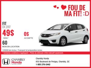Obtenez la Honda FIT 2017