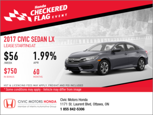Save on the 2017 Honda Civic LX Today!