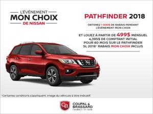 Louez le Nissan Pathfinder 2018!