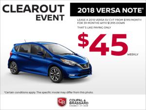2018 Nissan Versa Note!