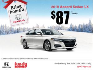 Lease the 2019 Honda Accord Sedan!