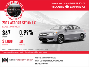Save on a 2017 Honda Accord LX Today!
