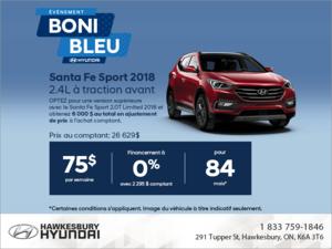 Procurez-vous le Santa Fe Sport 2018!