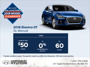 Lease the 2018 Elantra!