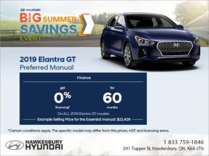 Finance the 2019 Elantra GT!