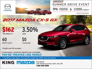 Drive Home an All-New 2017 Mazda CX-5 GX