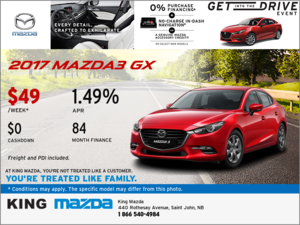 Drive Home the 2017 Mazda3 GX Today!