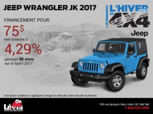 Économisez sur le Jeep Wrangler JK 2017!