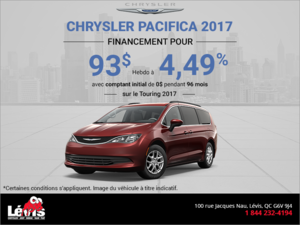 Financez la Chrysler Pacifica 2017