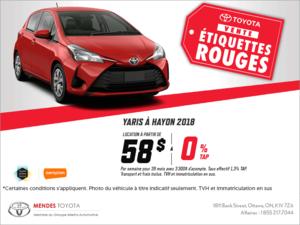 La Toyota Yaris à Hayons 2018!