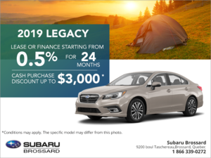 Get the 2019 Legacy today!