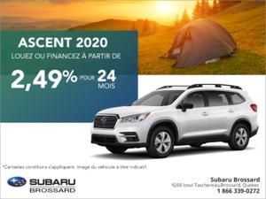 Procurez-vous le Subaru Ascent 2020!