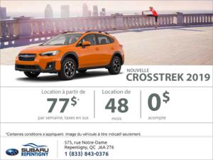 Louez la toute nouvelle Crosstrek 2019!
