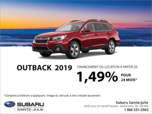 Procurez-vous la Subaru Outback 2019!