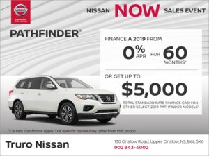 Get the 2019 Nissan Pathfinder Today!