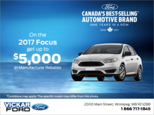 Save on the 2017 Focus!