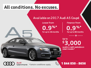 Save Big on the All-New 2017 Audi A5 Coupé