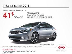 Achetez la Kia Forte 2018