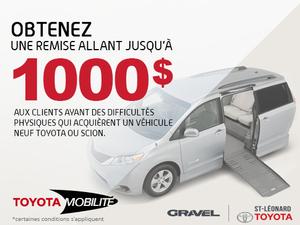 1000$ de remboursement  - Programme mobilité