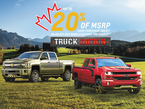 Deal 20% Chevrolet 2017