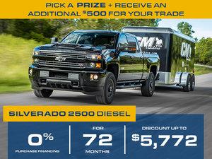 Silverado 2018 2500HD, 0% FOR 72 MONTHS