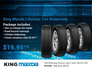 King Mazda's Lifetime Tire Balancing!