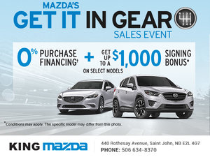 Get It in Gear with King Mazda!