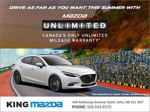 Unlimited Mileage Warranty at King Mazda!