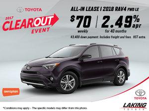 Save Big on the All-New 2018 Toyota RAV4