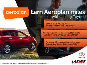 Earn Aeroplan Miles with Laking Toyota