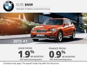 Lease the 2015 BMW X1 for as low as 1.9%