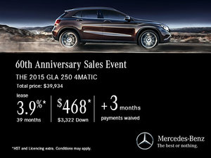 Lease the 2015 Mercedes-Benz GLA 250 for $468!