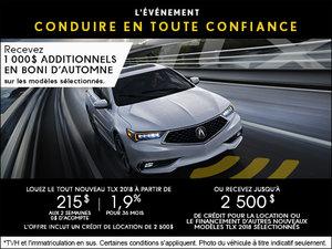 Acura TLX 2018 à Camco Acura