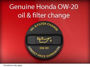 Genuine Honda Oil and Filter Change
