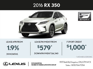 Buy the Brand-New 2016 RX 350 Today!
