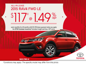Save on the all-new 2015 Toyota RAV4!