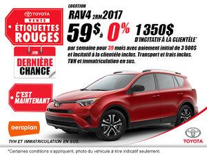 Obtenez la Toyota RAV4 2017!