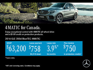 Lease the 2016 Mercedes-Benz GLE 350d for $758!
