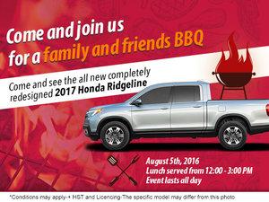 Family & Friends BBQ at Brockville Honda