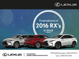 Come Take Advantage of the 2016 RX Event
