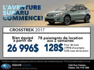 Obtenez le Subaru Crosstrek 2017