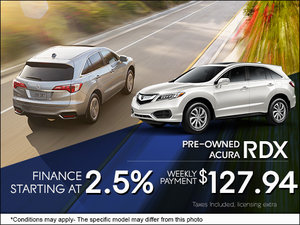 Get a Pre-Owned RDX from $127.94 per Week!