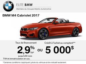 La BMW M4 Cabriolet 2017 en rabais