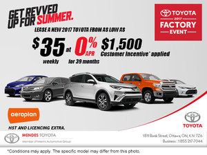 Lease a Toyota for $35 weekly