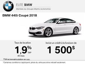La BMW 440i Coupé 2018 en rabais