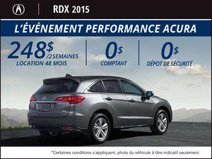 Acura RDX 2015 AWD en location à partir de 248$ aux 2 semaines