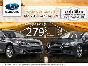 Les nouvelles Subaru 2015 sont enfin arrivées!