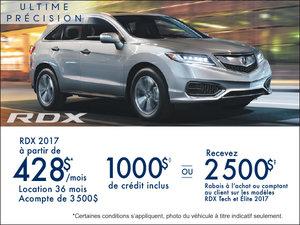 Acura RDX 2017 en location à partir de 428$/mois