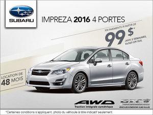 Louez la Subaru Impreza 4 portes 2016