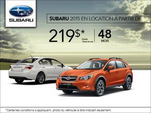 Pendant l'événement du mois de juillet louez un Subaru à partir de 219$!